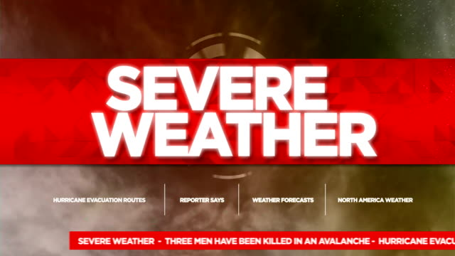 Severe Weather Alert Broadcast Tv Graphics Title