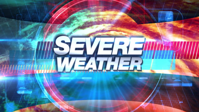 severe weather - broadcast tv graphics title - allerta video stock e b–roll