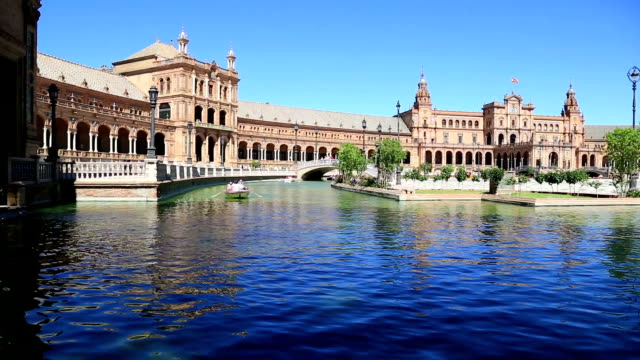 Seville, Spain - famous Plaza de Espana. Old landmark. video