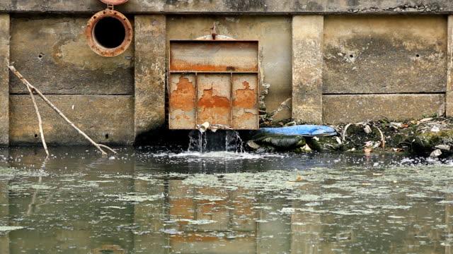 Sewage pipe. video