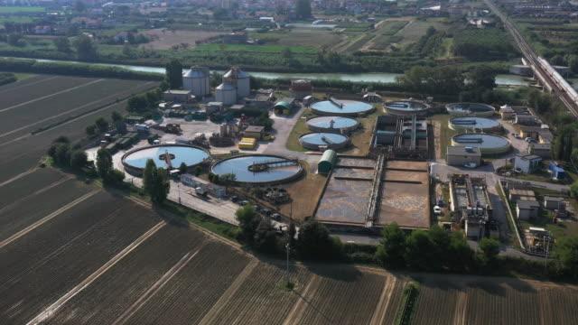 Sewage treatment factory video