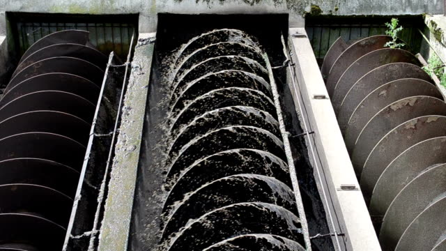 sewage water sift clean video