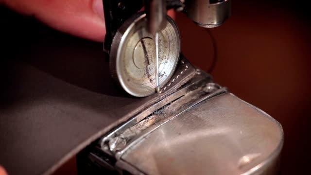 裁縫革 - 革点の映像素材/bロール