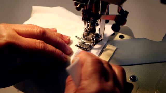 Sewing machine at work video