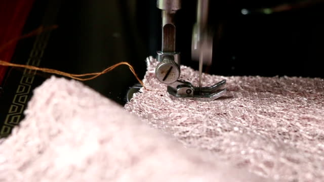 Sewing machine movement video