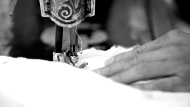 Sewing machine needle close up video