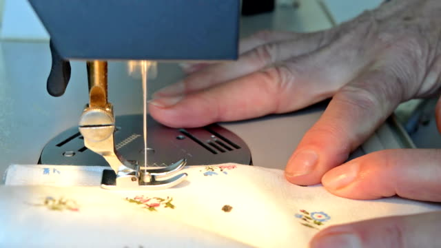 Sewing on a sewing machine video
