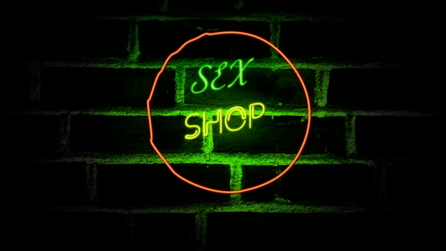 Sex Neon Sign Advertising An Adult Licensed Sex Shop Stock Video More Clips Of Abstract 992315954 Istock