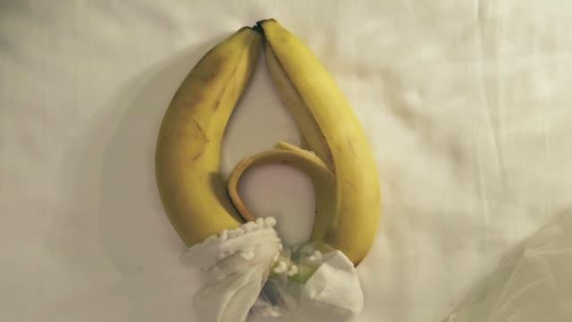 sexual caress of bananas