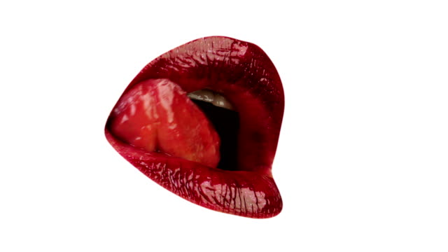 Sexy licking lips Sexy licking lips, isolated human lips stock videos & royalty-free footage