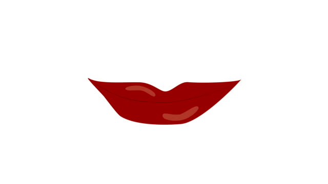Sexy Lips Licking Animation Sexy woman red lips licking animation. With Black-White mask. human lips stock videos & royalty-free footage