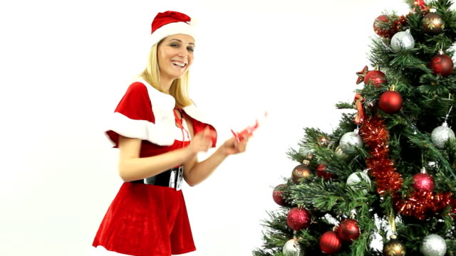 Sexy Santa fooling around video