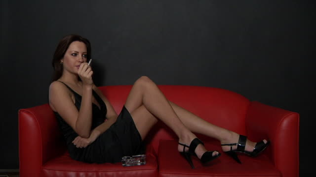 Sexy Smoking  cross legged stock videos & royalty-free footage