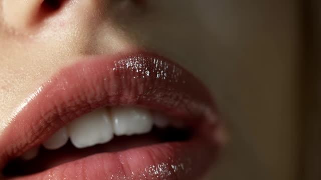 Sexy woman closeup video