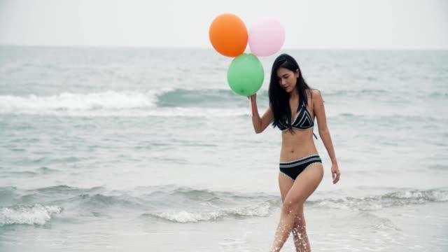Sexy Women with Helium Balloon