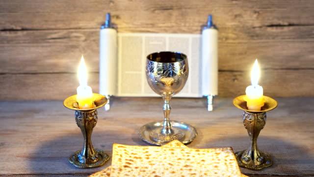 Shabbat eve table jewish holiday celebration video