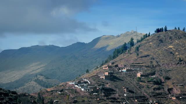 Shacks On Hillside In South America video