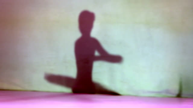 schatten der ballerina mädchen - ballettröckchen stock-videos und b-roll-filmmaterial