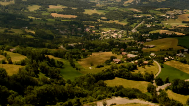 shadows moving over patchwork fields alpes de haute provence - hautes alpes stock videos & royalty-free footage