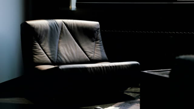 Shadows Playing Over A Large Leather Armchair Stock Video Download Video Clip Now Istock