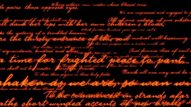 Shakespeare poetry background