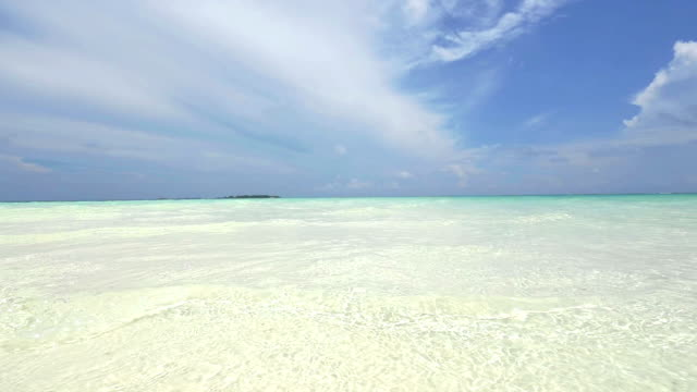 Shallow water in exotic island video