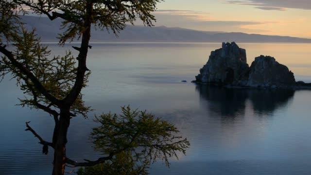 Shaman rock at dawn video