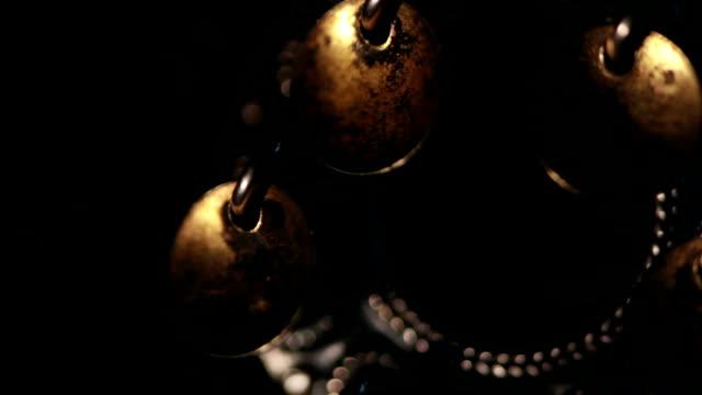 Shamanic tambourine abstract background video