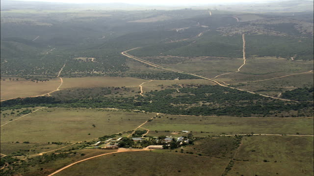 Shamwari Game Reserve Lodges  - Aerial View - Eastern Cape,  Cacadu District Municipality,  Sundays River Valley,  South Africa video