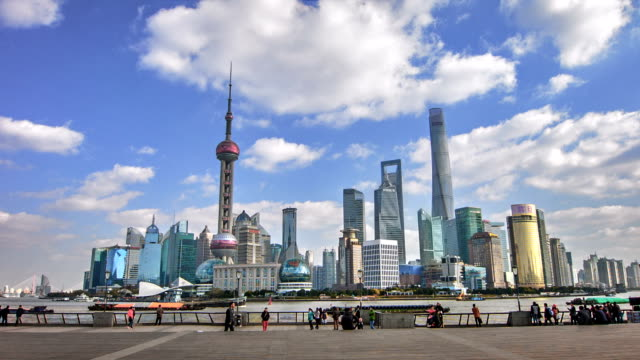 Shanghai day. Business district