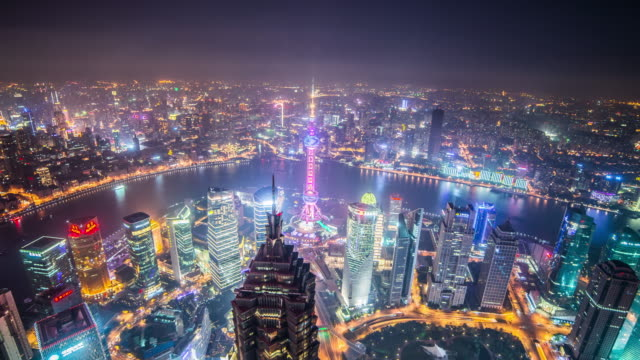 Shanghai downtown time lapse video