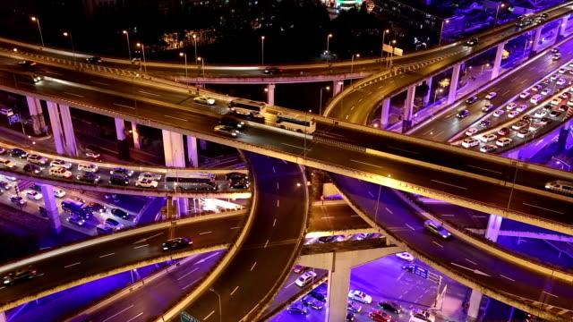 Shanghai Highway at Night video