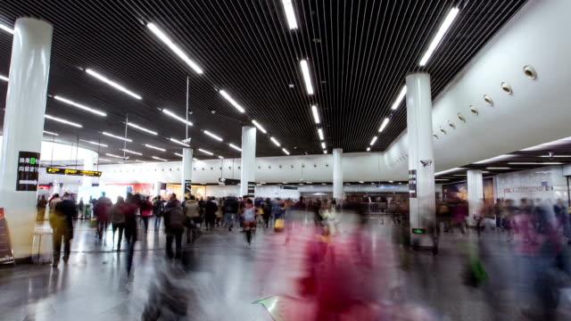 Shanghai metro der Menschenmenge, Zeitraffer-Fotografie – Video