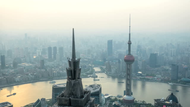shanghai overall view Shanghai city aerial view. general view stock videos & royalty-free footage