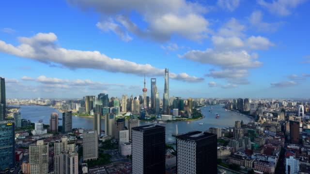 4K: Shanghai Skyline Panoramic video