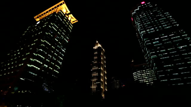 Shanghai Skyscrapers at Night video