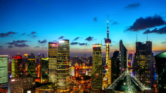 Shanghai world financial district in China (Teil 2). – Video