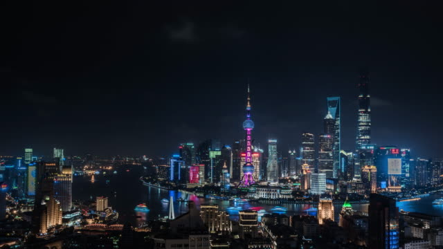 Shanghai world financial district in China City, Time Lapse, Shanghai, China - East Asia, Cityscape shanghai stock videos & royalty-free footage