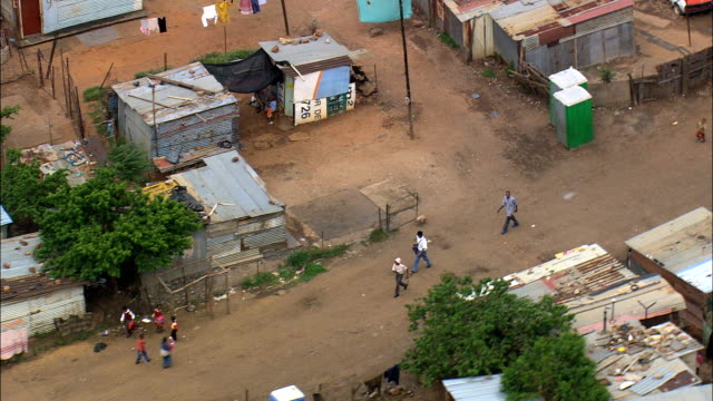 Shanty Town In Soweto  - Aerial View - Gauteng,  City of Johannesburg Metropolitan Municipality,  City of Johannesburg,  South Africa video