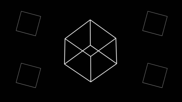 vidéos et rushes de formes déplacement piramid cube sphère spin 3d rendu - cube