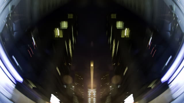 Sharp abstract POV through cityscape - 1080p video