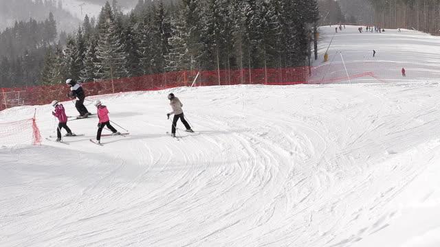 Sharp ski slopes. video