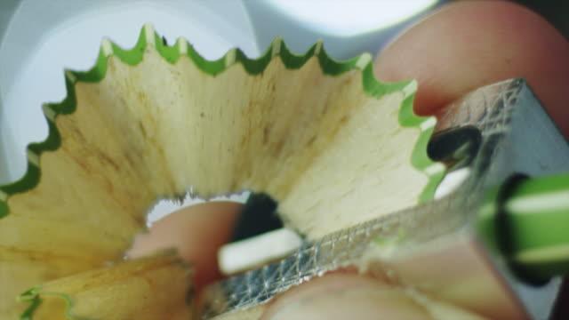 Sharpening a Pencil. Close-up. video