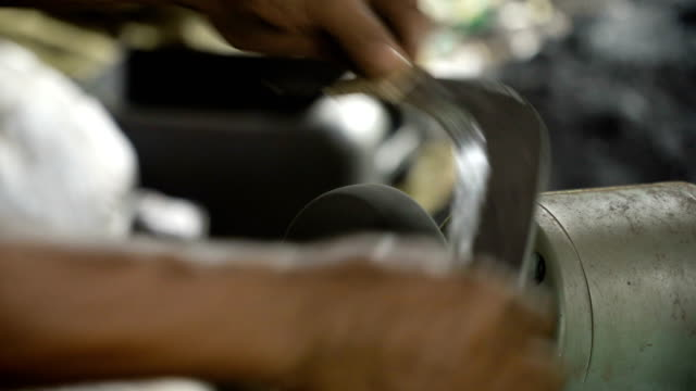 Sharpening the machete video