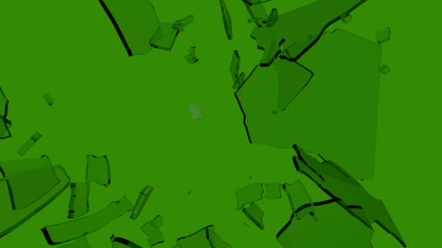 Shattered Glass Slow Motion Green Screen with Tracking Marker video