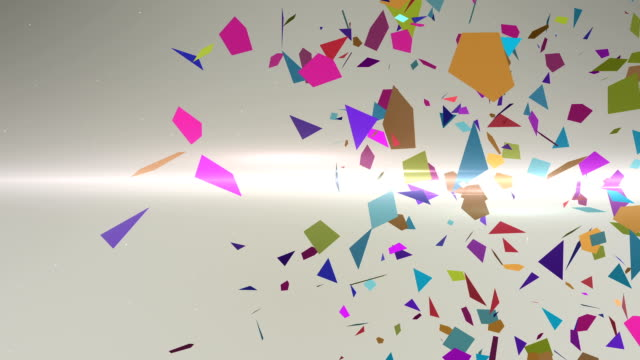 Shattering Colorful 3D Shapes With Slow Motion Animation