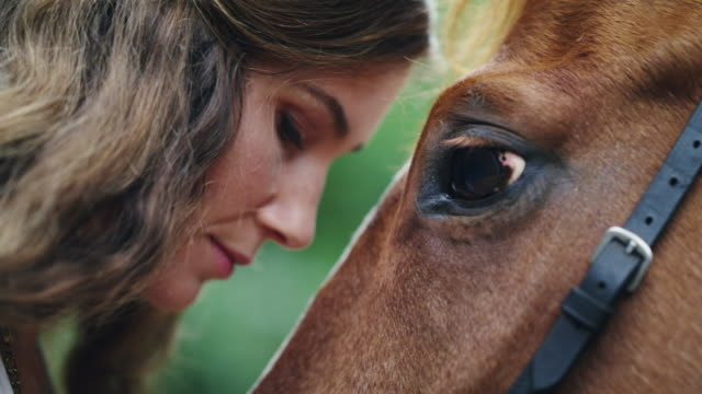 She can hear her horse speak to her