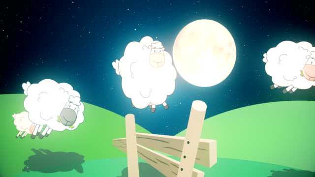 sheep jumping over a fence - 4k - ovino video stock e b–roll
