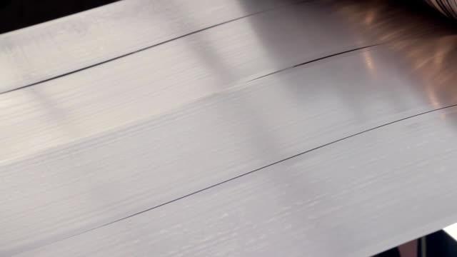 vídeos y material grabado en eventos de stock de chapa laminado 4 - acero inoxidable