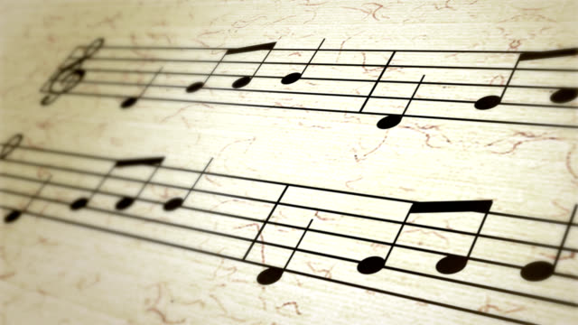 sheet music, musical notation, notes, treble clef video